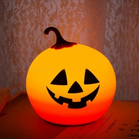 Ywxlight Pumpkin Night Light Soft Cute Silicone Patting Mode Portative LED Night Lamp