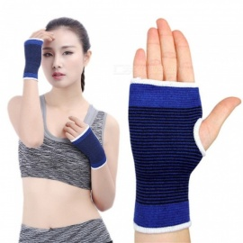 1 PC Elastic Knit Wrist Support For Carpal Tunnel Syndrome, Quick-dry Breathable Wrist Brace Blue