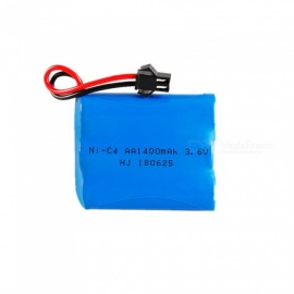 3.6V 1400mAh AA Battery Pack, Rechargeable Ni-cd Battery with SM Plug
