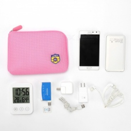 Shake-proof-Lightweight-Cable-Pouch-Portable-Multifunction-Cable-Organizer-Bag-Cosmetic-Storage-Bag-Pink