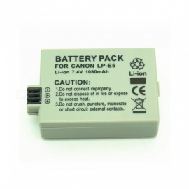 Suitable for Canon Camera NP-E5 full Decoding 1080mAh Lithium Battery Grey
