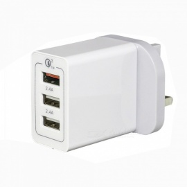 QC3.0 30W 3 USB 4.8A UK Plug Fast Charger