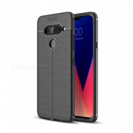 Dayspirit Lichee Pattern Protective TPU Back Cover Case For LG V40 Thinq - Black
