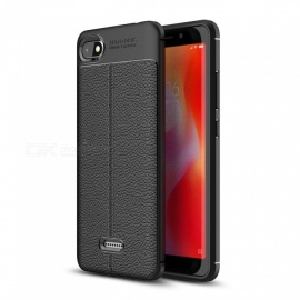 Dayspirit Lichee Pattern Protective TPU Back Cover Case For Xiaomi Redmi 6A - Black