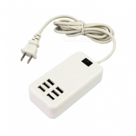 30W 6 USB AC100-240V USB Charger / Power Strip - US Plug