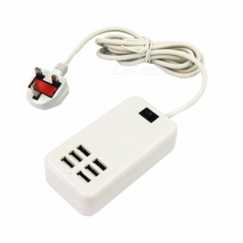 30W 6USB AC100-240V USB Smart Charger Plug - UK Plug