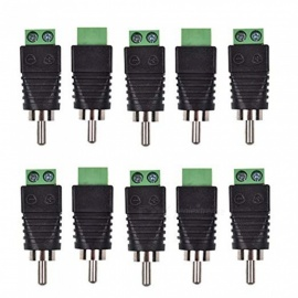 ZHAOYAO 10pcs Phono RCA Male Plug AV Tornillo Terminal Plug Connector