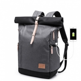 ESAMACT Fashion Brand Designer Backpack Bag College Function School Backpack Men Bag With USB Charger Laptop Backpacks