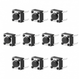 ZHAOYAO 6x6x4.3mm Panel Micro PCB Momentary Tactile Tact Push Button Switch (10 PCS)
