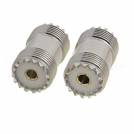 ZHAOYAO S0-239 UHF Double Female Coax Adapter Connector Plug (2 PCS)