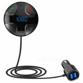 Quelima BC29B Bluetooth Hands-free Car Kit with MP3 Player, Dual USB Car Charger, FM Transmitter