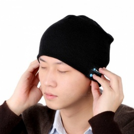 Portable Bluetooth V3.0 Woven Acrylic Fiber Stripe Warm Music Hat
