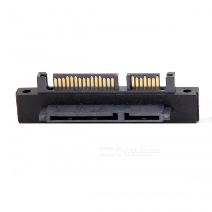 Buy CY SA-121-UP 90 Degree Up Angled SATA 22Pin 7+15 Male to SATA 22Pin Female Extension Convertor Adapter with Litecoins with Free Shipping on Gipsybee.com