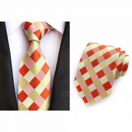8CM Polyester Jacquard Ties For Men, High-End Striped Necktie For Wedding Or Business Suits Blue