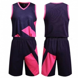 New Basketball Sports Jerseys Shorts Set Breathable Quick Dry Training Suit Red/XL