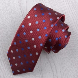 7CM Polyester Jacquard Ties For Men, Fashion Print Necktie For Business Or Wedding Suits Black