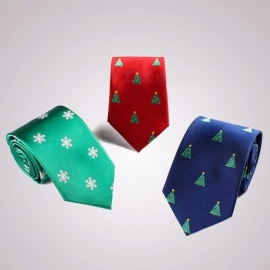 Fashion Christmas Theme Ties, Universal 7.5cm Slim Narrow Skinny Necktie For Festival Party Shows Green