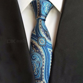 Fashion Narrow Slim Paisley Print Ties For Men, Universal Polyester Skinny Necktie For Business Suits Green