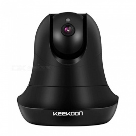 "Keekoon 1080P IP Camera Wireless Voice Alarm Dual-Audio Home Security Surveillance Wifi Night Vision Baby Monitor Black 1/4""/NTSC/EU Plug"