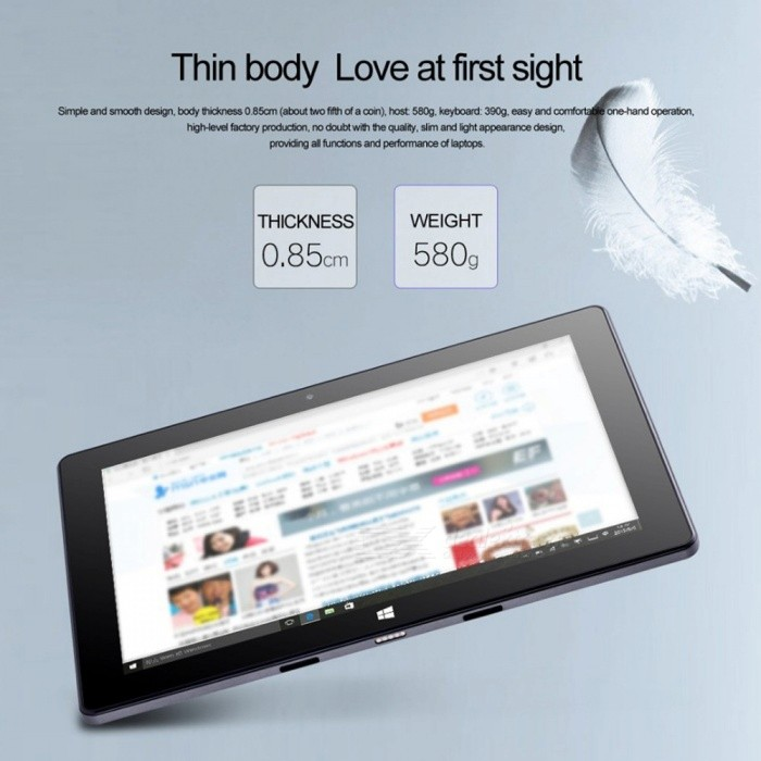 Buy W1718 N4000 Windows 10 Tablet PC With 2GB RAM, 32GB ROM Blue with Litecoins with Free Shipping on Gipsybee.com