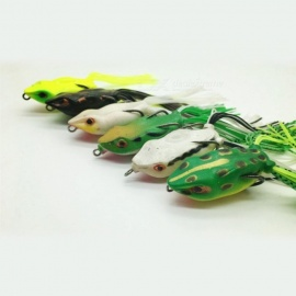 Live Target Artificial Frog Lure, Snakehead Topwater Simulation Soft Frog Fishing Lure Bait (random Color) Random Color