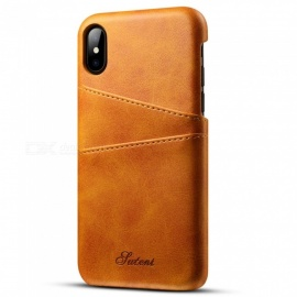 Leather Protective Phone Case / Back Cover Shell With Card Pockets For IPHONE XR, XS, XS MAX Black/iPhone XS 5.8