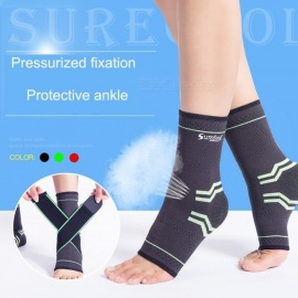1 Pair Ankle Support Elastic High Compression Protect Sports Equipment Safety Running Basketball Ankle Brace Support Black/l