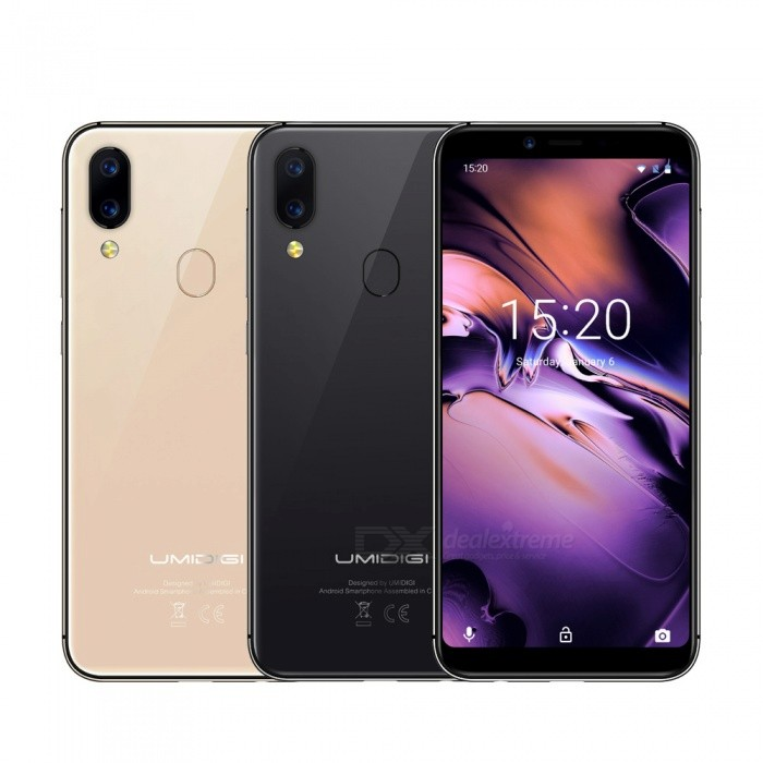 "UMIDIGI A3 Global Band 5.5""incell HD+display 2GB+16GB smartphone Quad core Android 8.1 12MP+5MP Face Unlock Dual 4G Mobile phone"