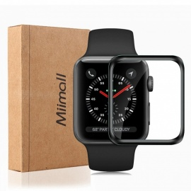 Miimall Screen Protector for Apple Watch Series 4,  Ultra Slim 3D Full Coverage Tempered Glass Screen Protector for iWatch