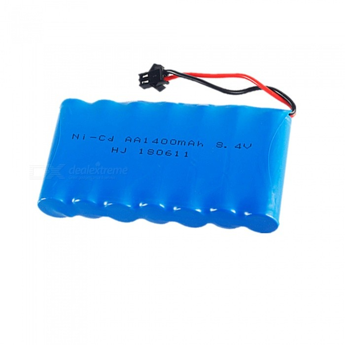 1 PCS 8.4V 1400mAh Ni-CD  AA Battery Pack SM2P Plug for RC Remote Control Electric Toy Car Model