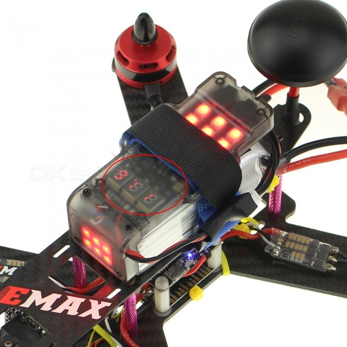 Multifunction 3S FPV Battery Protection Board w/ LED Navigation Light, BB Ring Buzzer Tracker Low Voltage Alarm for FPV RC