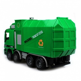 ESAMACT Large Size Children Simulation Inertia Garbage Truck Sanitation Car Toy for Kids