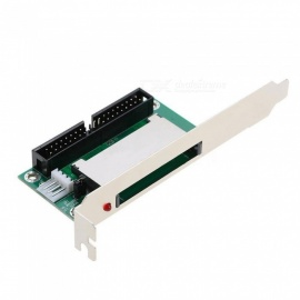 40-Pin IDE to Compact Flash Card CF Adapter Converter PCI Bracket Back Panel Top