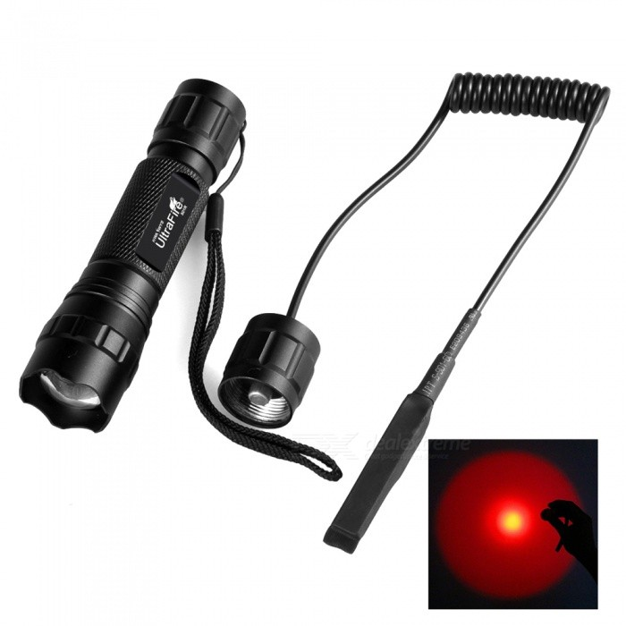 Portable Red Light Focusing Flashlight for Outdoor Hunting