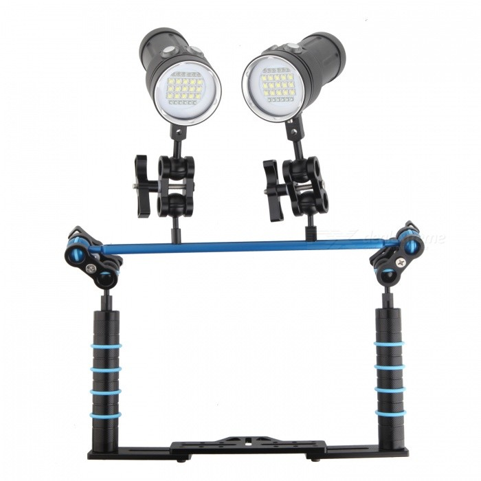 Professional Diving Photography LED Light Holder For Camera /Sport Camera GOPRO With Two Lights C Version