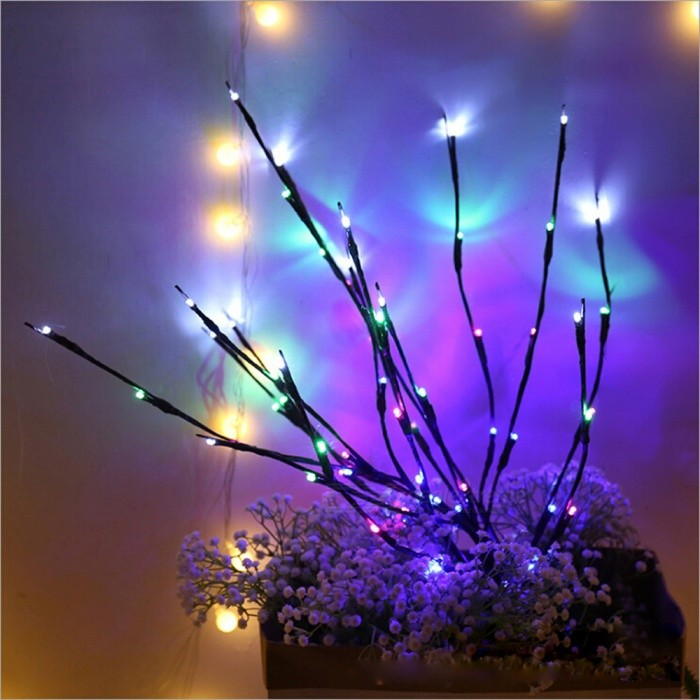Creative LED Simulation Tree Branches Light, 20-LED Branches Christmas Light fro Home Decoration