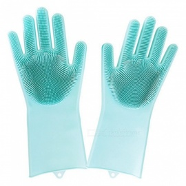 Non-slip Insulation Wear-resistant Silicone Dish Cleaning Gloves