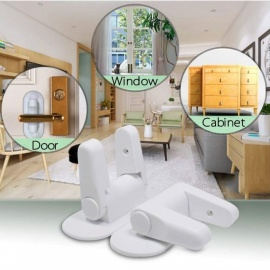 Child Door Safety Lock Multi-function Door Lock Drawer Lock 2 Pieces