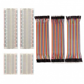 ZHAOYAO-4Pcs-Breadboards-Kit-with-120Pcs-Jumper-Wires-for-Arduino-Proto-Shield-Circboard-Prototyping