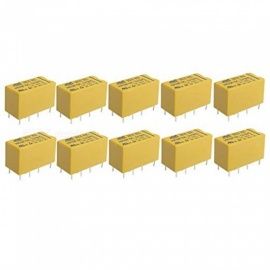 ZHAOYAO HK19F 10Pcs DC 5V Coil 8 Pins DPDT Power Relay