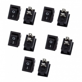 ZHAOYAO 10Pcs SPST 2 Position ON/OFF 2 Position Boat Rocker Switches, AC 250V/10A 125V/12A