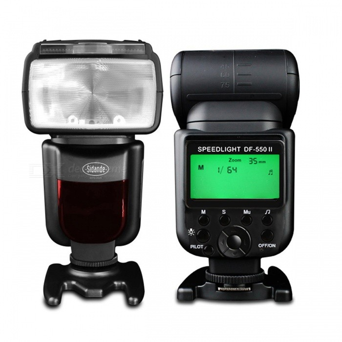 Sidande DF-550 Speedlight, SLR Camera External Top Flash Lamp - Black