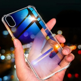 Rock Transparent Soft Silicone Protective Case, Shake-proof TPU Back Case For IPHONE X / IPHONE XS / IPHONE XS MAX Clear/iphone XR