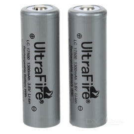 Ultrafire-17500-36V-1300mAh-Protected-Li-ion-Rechargeable-Batteries-(2-Pack)