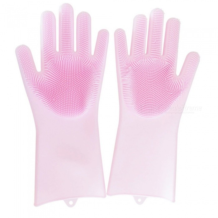 Non-Slip Magic Silicone Rubber Cleaning Gloves (1 Pair)