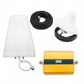 GSM/3G 900/2100MHz Double Frequency Portable Mobile Phone Signal Booster Amplifier Repeater EU Plug