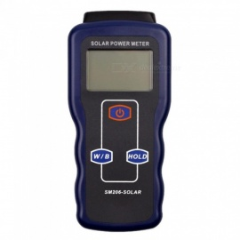 SM206 Solar Power Meter, High Precision Solar Radiation Tester, Optical Solar Research Glass Light Intensity Tester As the Picture