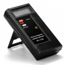 Professional LCD Digital Electromagnetic Radiation Detector, EMF Meter Dosimeter Tester Radiation Measuring Tool Black