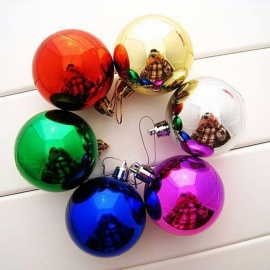 12Pcs/Lot 3cm Christmas Balls Bauble For Xmas Tree Decoration, Home Party Hanging Ornament Multicolor