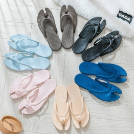 Travel Portable Summer Flip Flops Foldable Beach Swimming Flat Slippers For Women Men Beige/36